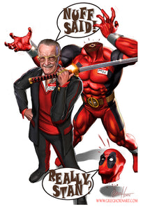 Deadpool and Smilin' Stan - Deadpool's Secret Secret War Litho