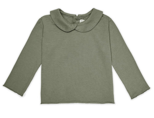 Les Gamins Collar Tee, Olive