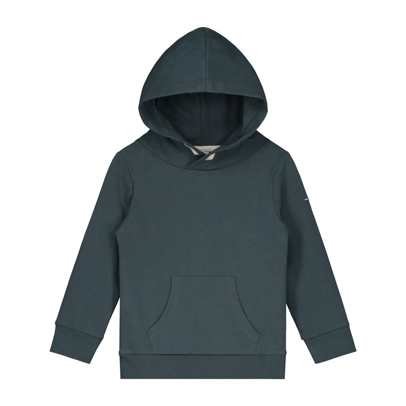 Gray Label Classic Hooded Sweater, Blue Grey