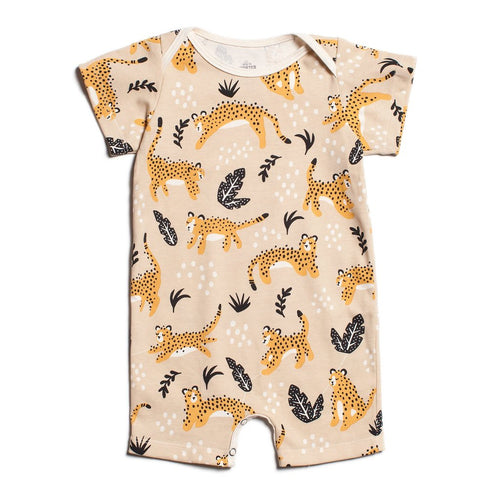 Winter Water Factory Summer Romper, Wildcats Beige