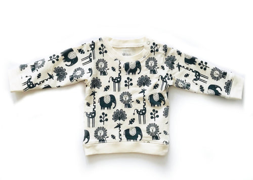 Every Body Crewneck Piha Print, Natural