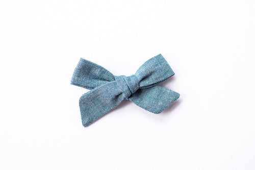 Stars and Dandelions Josie Small/Pig Tail Bow, Chambray