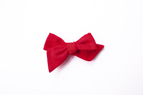 Stars and Dandelions Nora Medium Bow, Red