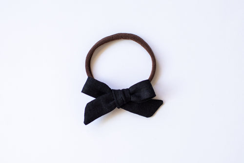 Stars and Dandelions Baby Bow, Black