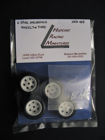 Halibrand 6-Spoke Wheels and Tires 1/24th scale