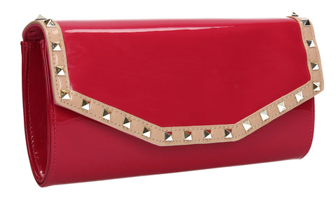 SWANKYSWANS Juno Clutch Bag Fuschia Cute Cheap Clutch Bag For Weddings School and Work