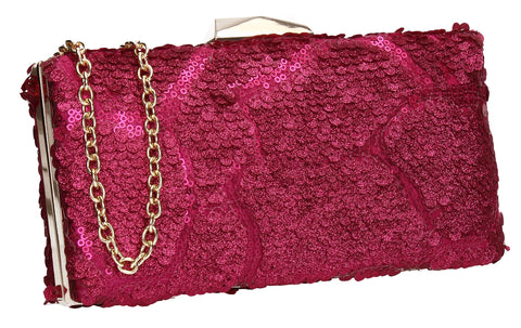 SWANKYSWANS Maggie Clutch Bag Fuchsia Cute Cheap Clutch Bag For Weddings School and Work