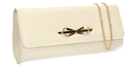 SWANKYSWANS Abigail Clutch Bag White Cute Cheap Clutch Bag For Weddings School and Work