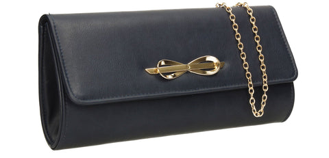 SWANKYSWANS Abigail Clutch Bag Blue Cute Cheap Clutch Bag For Weddings School and Work