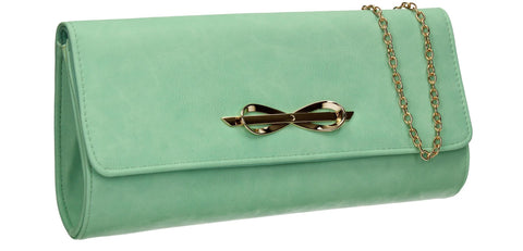 SWANKYSWANS Abigail Clutch Bag Green Cute Cheap Clutch Bag For Weddings School and Work