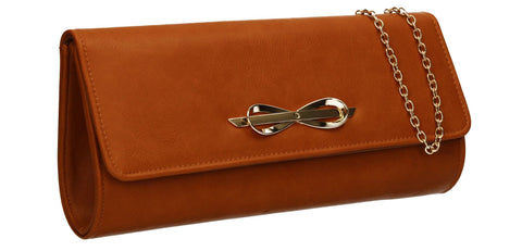 SWANKYSWANS Abigail Clutch Bag Brown Cute Cheap Clutch Bag For Weddings School and Work