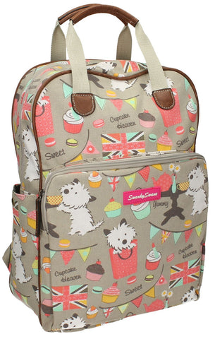 Swanky SwansBiba Dog Cupcake Backpack GreyBeautiful cheap school backpack bag