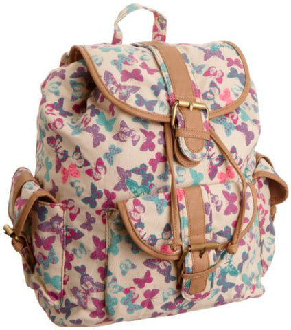 Swanky Swans Lily Butterfly Print BackpackBeautiful cheap school backpack bag