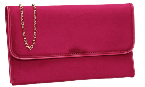 SWANKYSWANS Kora Clutch Bag Fuschia Cute Cheap Clutch Bag For Weddings School and Work