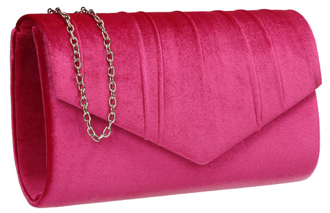 SWANKYSWANS Jess Clutch Bag Fuschia Cute Cheap Clutch Bag For Weddings School and Work