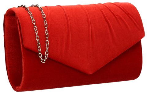 SWANKYSWANS Jess Clutch Bag Red Cute Cheap Clutch Bag For Weddings School and Work