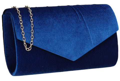 SWANKYSWANS Jess Clutch Bag Royal Blue Cute Cheap Clutch Bag For Weddings School and Work