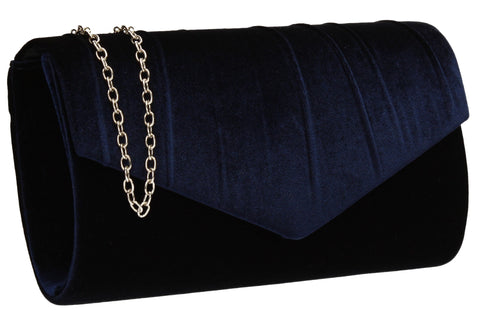 SWANKYSWANS Jess Clutch Bag Navy Cute Cheap Clutch Bag For Weddings School and Work