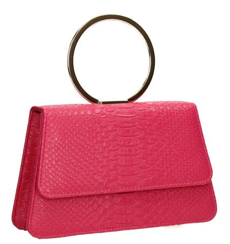 SWANKYSWANS Piper Clutch Bag Fuschia Cute Cheap Clutch Bag For Weddings School and Work