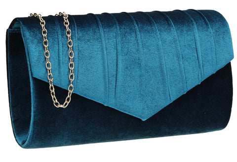 SWANKYSWANS Jess Clutch Bag Teal Cute Cheap Clutch Bag For Weddings School and Work