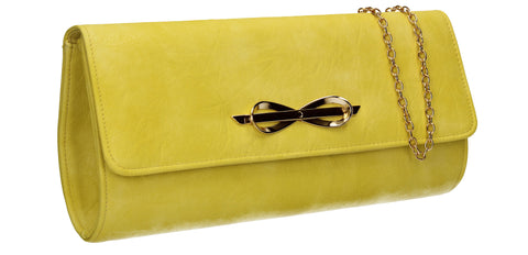 SWANKYSWANS Abigail Clutch Bag Yellow Cute Cheap Clutch Bag For Weddings School and Work