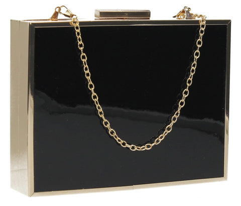 SWANKYSWANS Kate Box Clutch Bag Black Cute Cheap Clutch Bag For Weddings School and Work