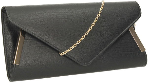 SWANKYSWANS Laurie Clutch Bag Black Cute Cheap Clutch Bag For Weddings School and Work