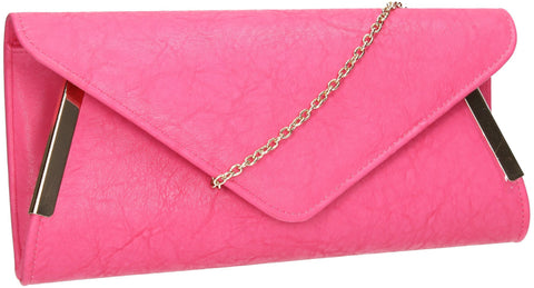 SWANKYSWANS Laurie Clutch Bag Fuschia Cute Cheap Clutch Bag For Weddings School and Work