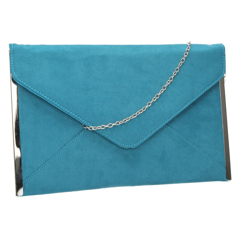 SWANKYSWANS Louis Clutch Bag Teal Cute Cheap Clutch Bag For Weddings School and Work