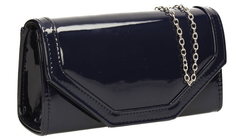 SWANKYSWANS Melania Clutch Bag Navy Cute Cheap Clutch Bag For Weddings School and Work