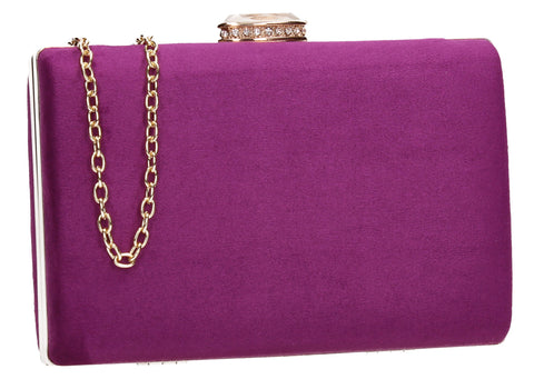 SWANKYSWANS Surrey Clutch Bag Purple