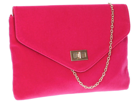 SWANKYSWANS Rita Clutch Bag Fuschia Cute Cheap Clutch Bag For Weddings School and Work