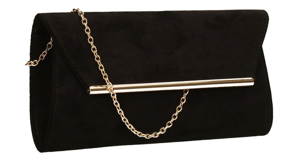 SWANKYSWANS Sabrina Clutch Bag Black Cute Cheap Clutch Bag For Weddings School and Work