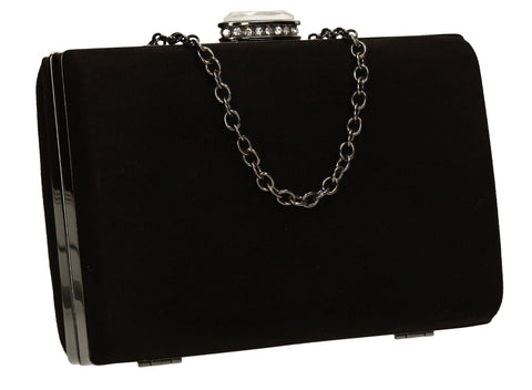 SWANKYSWANS Surrey Clutch Bag Black Cute Cheap Clutch Bag For Weddings School and Work