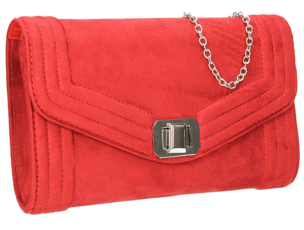 SWANKYSWANS Tabitha Clutch Bag Red Cute Cheap Clutch Bag For Weddings School and Work