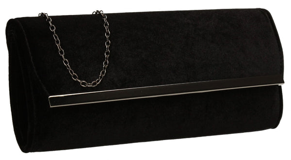 SWANKYSWANS Serena Clutch Bag Black Cute Cheap Clutch Bag For Weddings School and Work