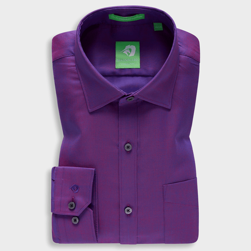Premium Dark Purple Festive Solid Shirt