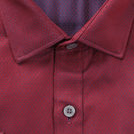 Premium Maroon Diamond Pattern Shirt