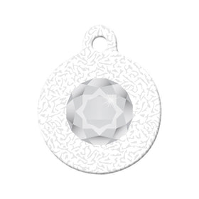 April Birthstone Design Circle Pet ID Tag
