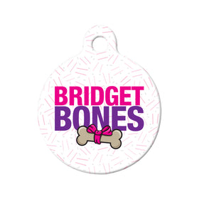 Bridget Bones Parody Circle Pet ID Tag