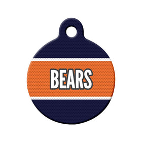 Football Jersey Circle Pet ID Tag