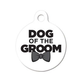 Dog of the Groom Circle Pet ID Tag