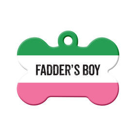 Fadder's Boy Republic of NL Bone Pet ID Tag