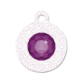 February Birthstone Circle Pet ID Tag