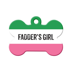 Fadder's Girl Republic of NL Bone Pet ID Tag
