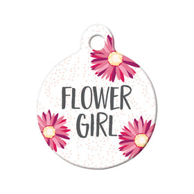 Flower Girl Circle Pet ID Tag