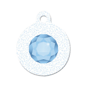 March Birthstone Circle Pet ID Tag