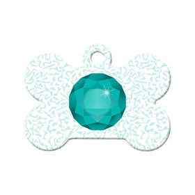 May Birthstone Bone Pet ID Tag