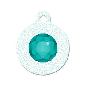 May Birthstone Circle Pet ID Tag