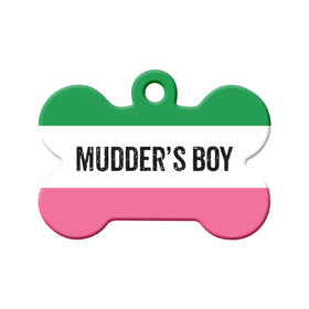 Mudder's Boy Republic of NL Bone Pet ID Tag